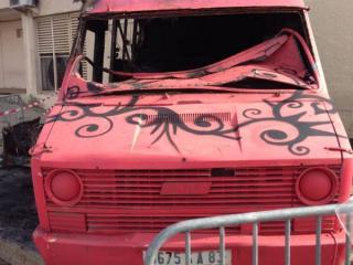 Désinfection de camion incendié à Marseille - C. Darmanin