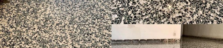Ponçage et remise en état de sol en granito dans le Var