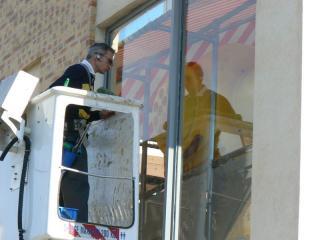 Nettoyage de vitre en hauteur