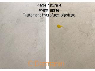 Test après traitement hydrofuge - Oléofuge de pierre naturelle - C. Darmanin