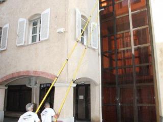 Nettoyage par osmose de façade de bâtiment Mairie de la Valette (Var)