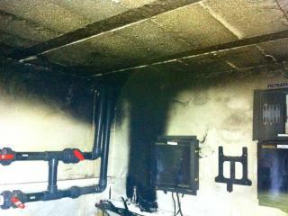 Nettoyage après incendie AV - C. Darmanin la Seyne-sur-mer