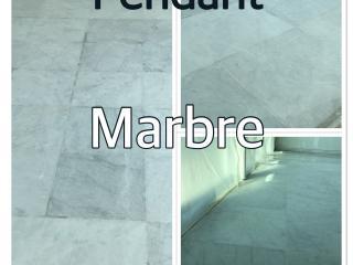 Rénovation d'un sol en Marbre d'une villa à Toulon-Pendant notre intervention