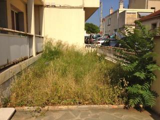 Entretien des espaces verts d'une cour d'immeuble
