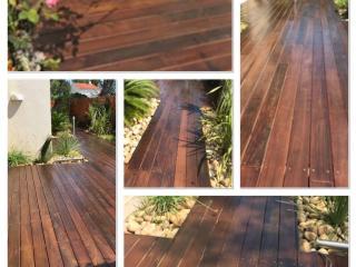 Ponçage et traitement huilé terrasse bois extérieur - Bandol - C. Darmanin (83)