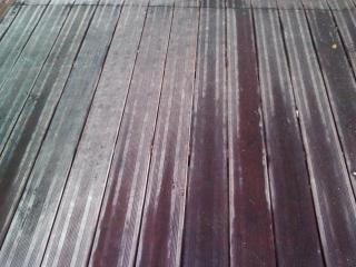 Remise en état terrasse extérieur bois avant intervention - C. Darmanin