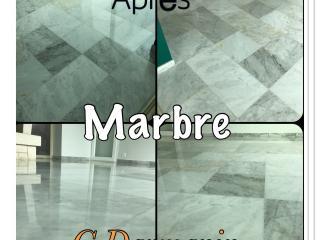 Après notre intervention -Rénovation du marbre d'une villa à Toulon.